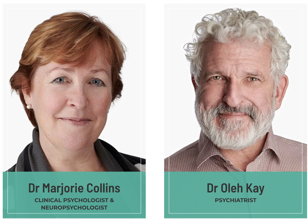 Dr Marjorie Collins and Dr Oleh Kay