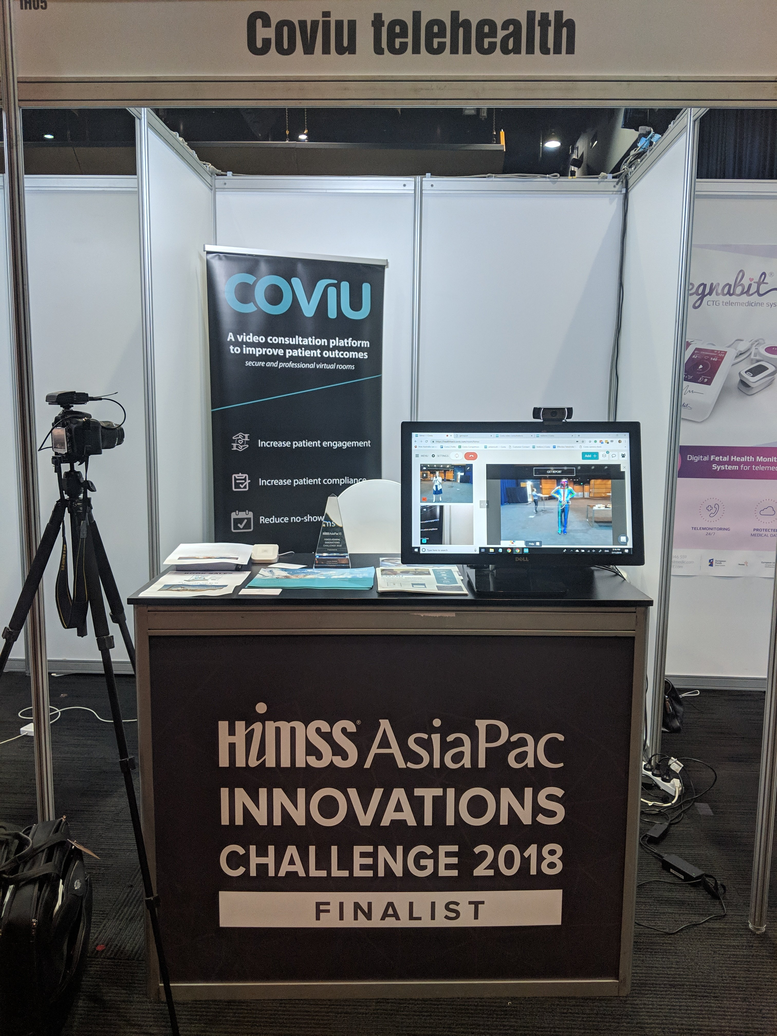Coviu's PhysioRom came first place at the 2018 HIMMS conference