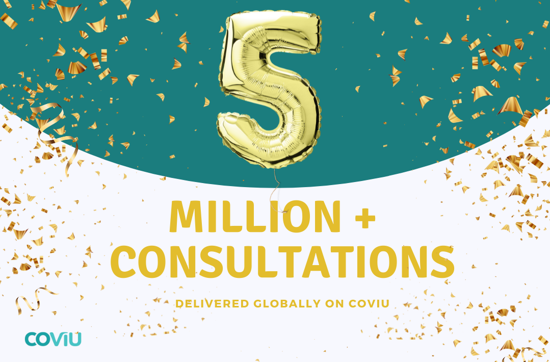 5 MILLION + consultations have been delivered globally via Coviu!
